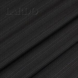 Шерсть костюмная чёрная в тёмно-синюю полоску VERGINE  Италия Состав: шерсть 100 % Плотность ≈ 200 г/м ² Ширина 152 см