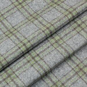 Шерсть костюмная в клетку серо-зелёная Италия Состав: шерсть 100 % Плотность ≈ 210 г/м ² Ширина 156 см