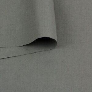 Лён стретч серый хаки Италия Состав: лён 95 %, эластан 5 % Плотность ≈ 165 г/м ²  Ширина 144 см