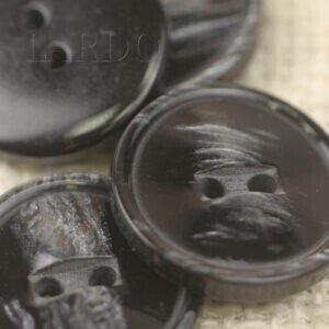 Пуговица пластик ∅ 2,0 см тёмно-серого цвета