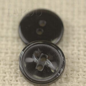 Пуговица пластик ∅ 1,5 см тёмно-серого цвета