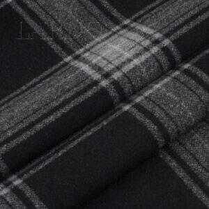 Пальтовая шерсть серо-чёрная клетка  Италия  Состав: шерсть 80 %, п/э 20 %  Плотность ≈ 375 г/м ²  Ширина 160 см