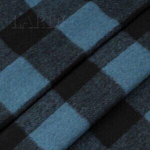 Пальтовая шерсть тёмно-бирюзово-чёрная клетка виши Италия  Состав: шерсть 92 %, п/э 8 %  Плотность ≈ 320 г/м ²  Ширина 160 см