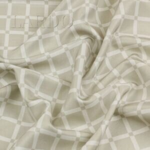 Шёлк костюмно-плательный стилизованная клетка