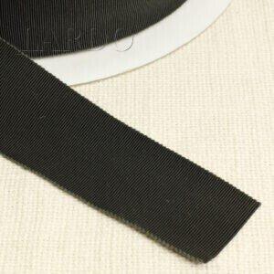 Репсовая лента тёмно-зелёного цвета Состав: хлопок 50 %, вискоза 50 % шир. 4,0 см