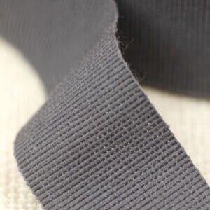 Репсовая лента серого цвета Состав: хлопок 50 %, синтетические волокна 50 % шир. 3,0 см
