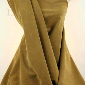 Бархат стретч цвета карамели Италия Состав: хлопок 96 %, эластан 4 % Плотность ≈ 230 г/м ² Ширина 146 см