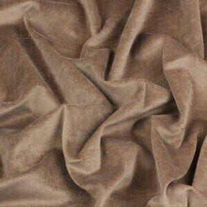 Бархат стретч светло-коричневый Италия Состав: хлопок 95 %, эластан 5 % Плотность ≈ 230 г/м ² Ширина 148 см