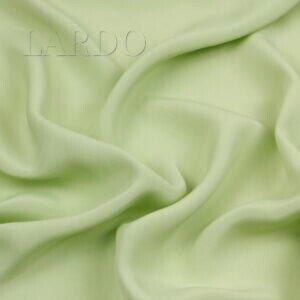 Крепдешин салатовый Италия Состав: шёлк 57 %, ацетат 43 % Плотность ≈ 75 г/м ² Ширина 140 см