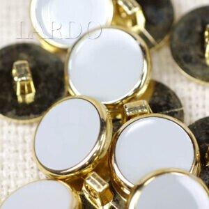 Пуговица на ножке пластик ∅ 1,8 см серого цвета золотистая