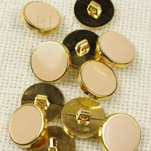 Пуговица на ножке пластик ∅ 1,8 см персикового цвета золотистая