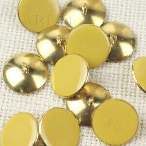 Пуговица на ножке металл пластик жёлтого цвета ∅ 2,0 см золотистая
