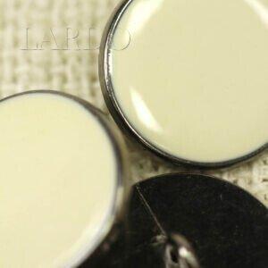 Пуговица на ножке металл пластик молочного цвета ∅ 2,0 см никель