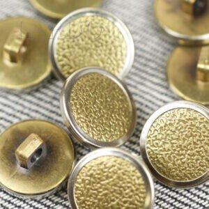Пуговица на ножке металл никель ∅ 1,5 см золотистого цвета