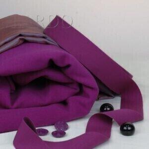 123 Пальтовая шерсть Extra Vergin цвета фуксии и подкладка шанжан купон вискоза
